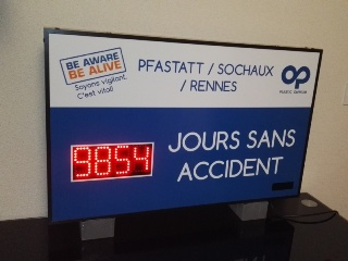 Affichage Jours sans Accidents