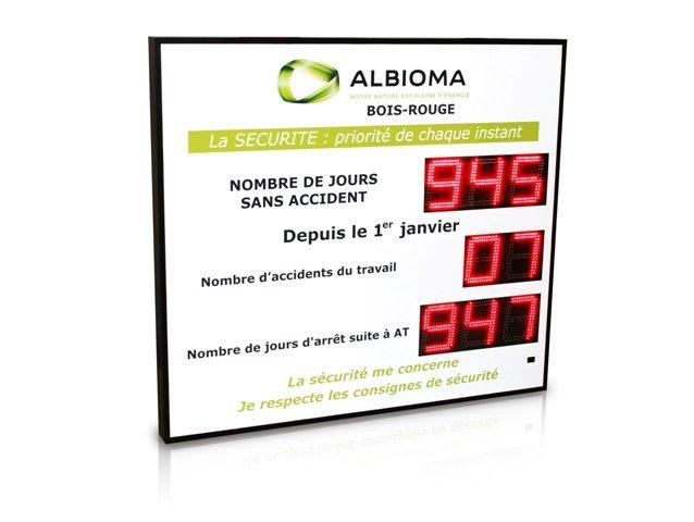 Albioma - JNombre de jours sans accident - 8 digit 16cm