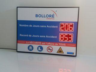 Bolloré Logistics - 6 Chiffres de 8cm