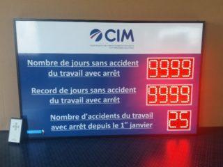 CIM - nombre de jours sans accident 10 digit 8cm