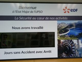 EDF - panneau jours sans accident - 4 digit 16cm