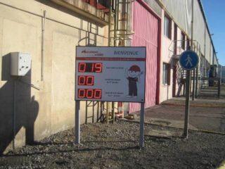 Mécamont Hydro - nombre de jours sans accident - 8 digit 16cm