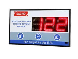 SACMO - Nombre de Jours sans accident - 3 digit 16cm