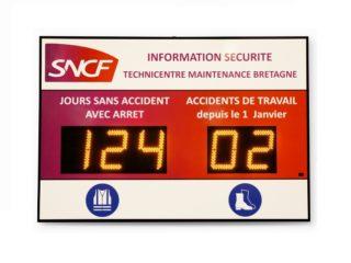 SNCF - jours sans accident - 5 digits 16cm