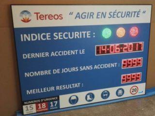 Tereos France - Panneau sécurité