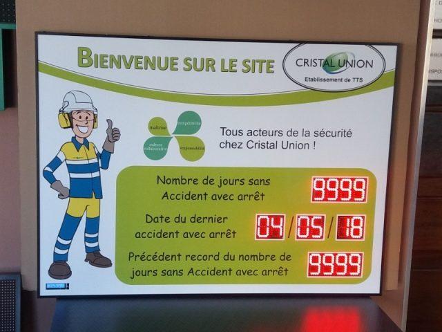 Jours sans Accident - Cristal Union