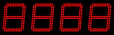 LES CHIFFRES LED 160 mm