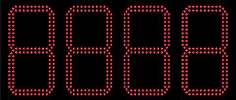 LES CHIFFRES LED 240 mm