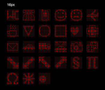 pictogrammes 16px